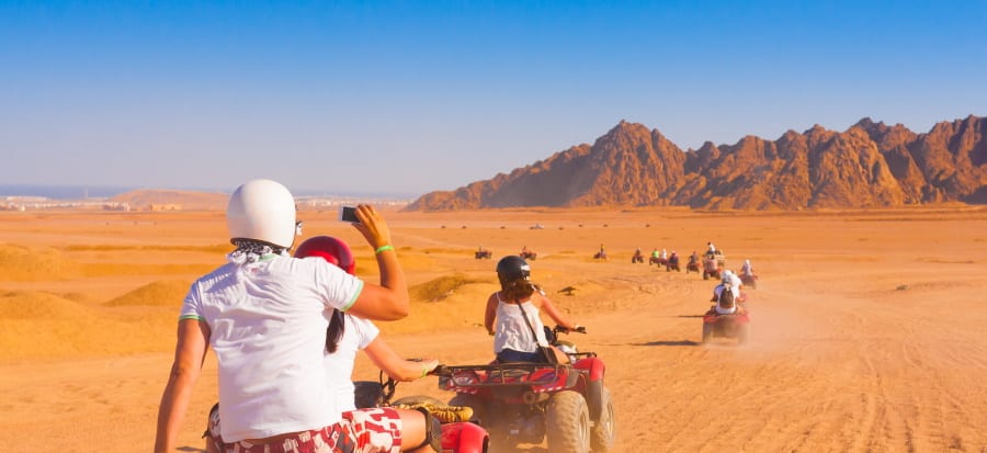 quad excursion in sahara desert in egypt