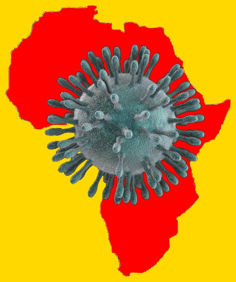 africa map coronavirus covid-19 heart of africa february 2020