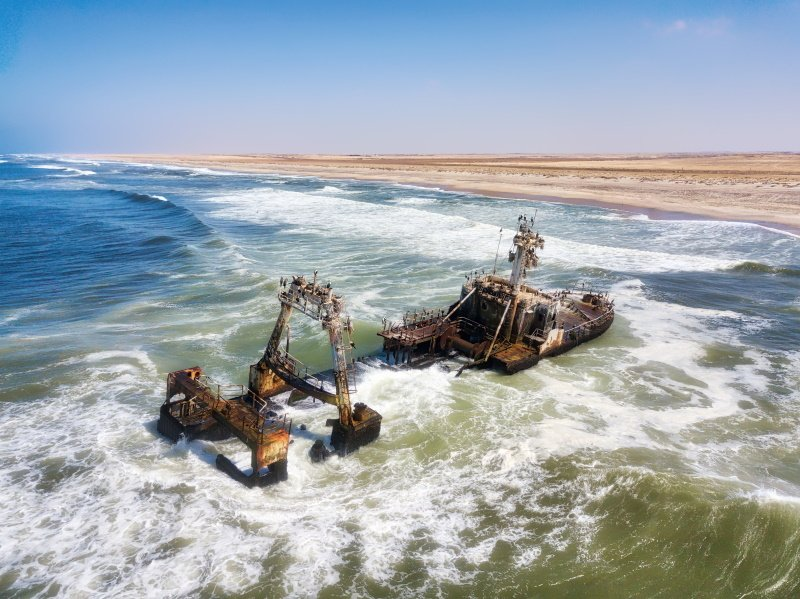 Ship Wreck along the Skeleton Coast in Western Namibia taken in January 2018_18