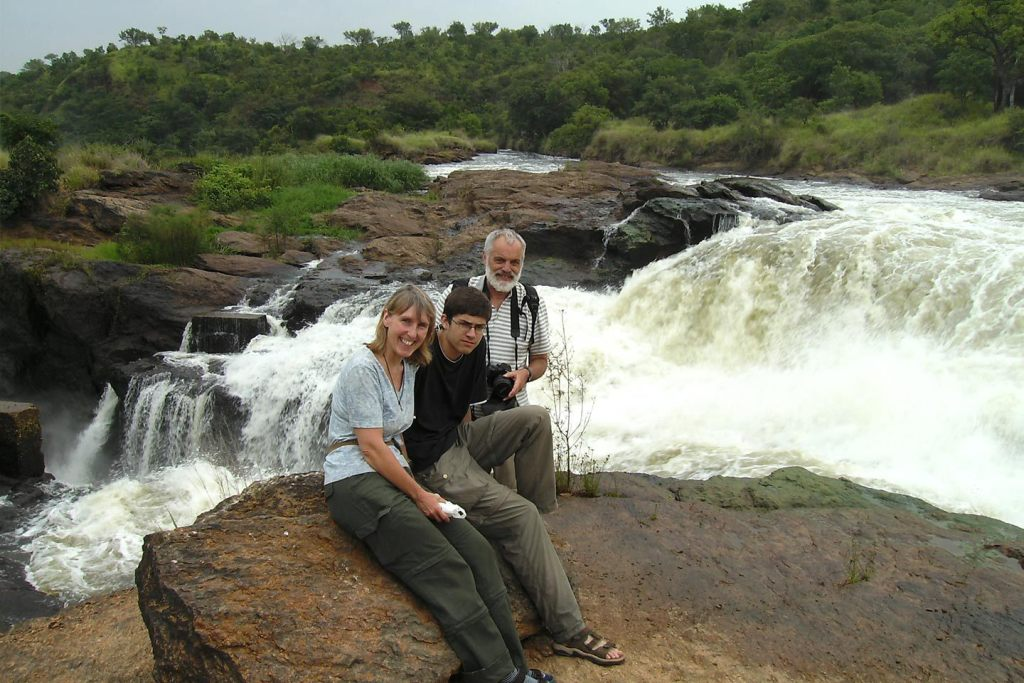 Murchison game drive and boat trip to the base of the falls