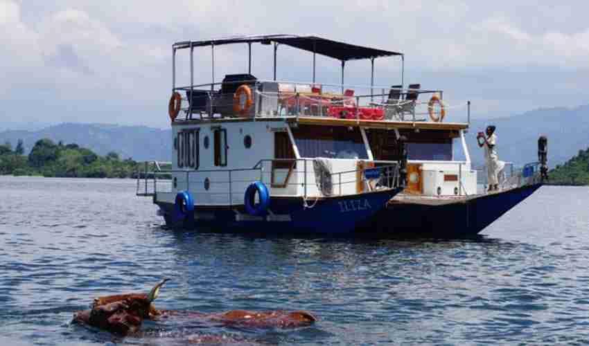 Boat cruise on Lake Kivu